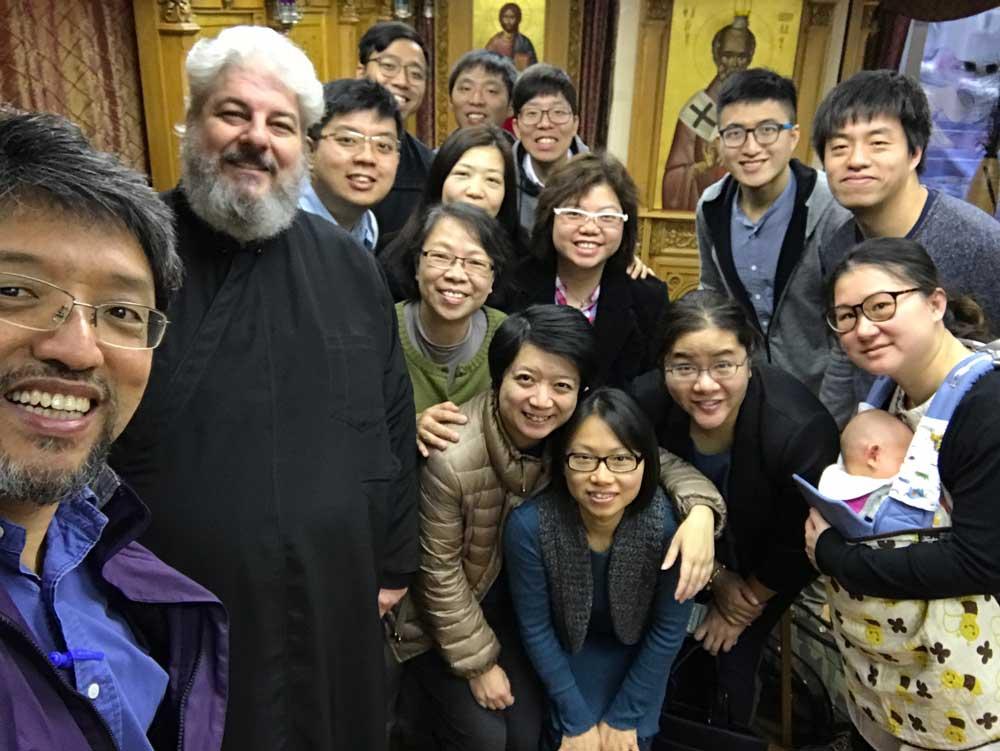 Επίσκεψη φοιτητών στον Καθεδρικό Ναό του Αποστόλου Λουκά