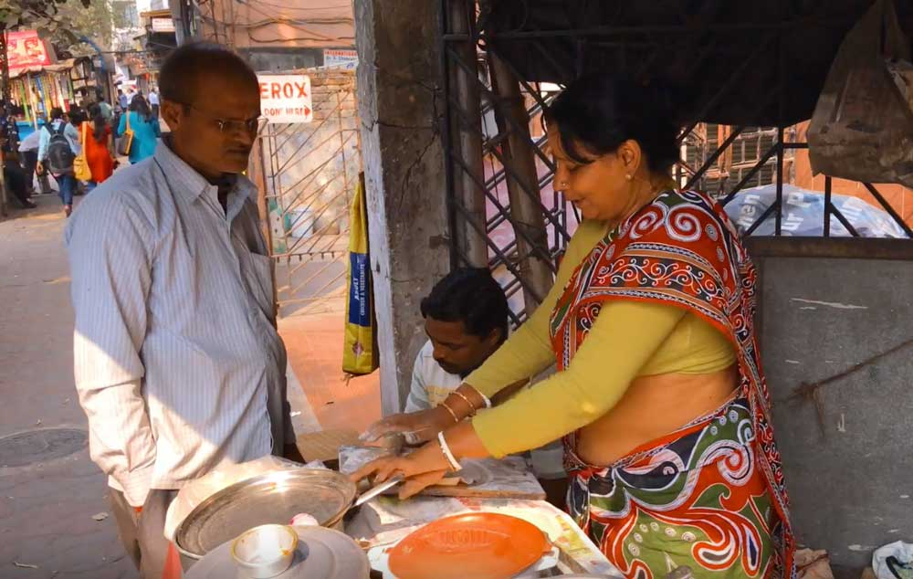 Φαγητό στο δρόμο στην Καλκούτα
